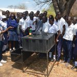 The Water Project: Nyanyaa Secondary School -  Facilitator Goes Over The Correct Steps For Handwashing
