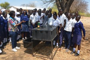 The Water Project:  Facilitator Goes Over The Correct Steps For Handwashing