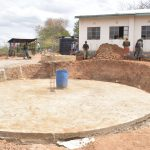 The Water Project: Nyanyaa Secondary School -  Foundation Complete