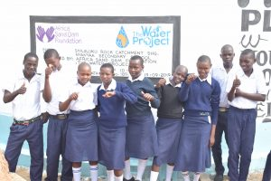 The Water Project:  Students At The Tank