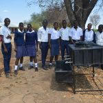 The Water Project: Nyanyaa Secondary School -  Students Listen During The Handwashing Training