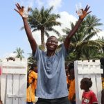 The Water Project: Lokomasama, Gbonkogbonko, Kankalay Primary School -  Head Teacher Celebrates