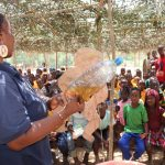 The Water Project: Lokomasama, Gbonkogbonko, Kankalay Primary School -  Hygiene Trainer With The Diarrhea Doll