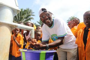 The Water Project:  The Town Chief Rejoicing At The Well