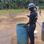 The Water Project: Lokomasama, Gbonkogbonko, Kankalay Primary School -  Yield Test
