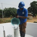 The Water Project: Lungi, Mahera, Mahera Health Clinic -  Chlorination