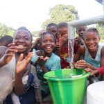 The Water Project: Lungi, Mahera, Mahera Health Clinic -  Children Celebrating Safe Drinking Water