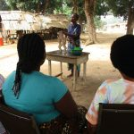 The Water Project: Lungi, Mahera, Mahera Health Clinic -  Hygiene Facilitator Teaching About Diarrhea