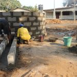 The Water Project: Lungi, Mahera, Mahera Health Clinic -  Pad Construction
