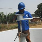 The Water Project: Lungi, Mahera, Mahera Health Clinic -  Pump Installation
