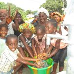 The Water Project: Lungi, Mahera, Mahera Health Clinic -  Kids Happy Playing With Water