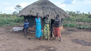 The Water Project:  Santa Biriyema With Children And Neighbors