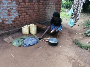 The Water Project:  Peeling Potatoes