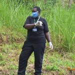 The Water Project: Emukoyani Community, Ombalasi Spring -  Team Leader Emmah With Protective Gear During Training