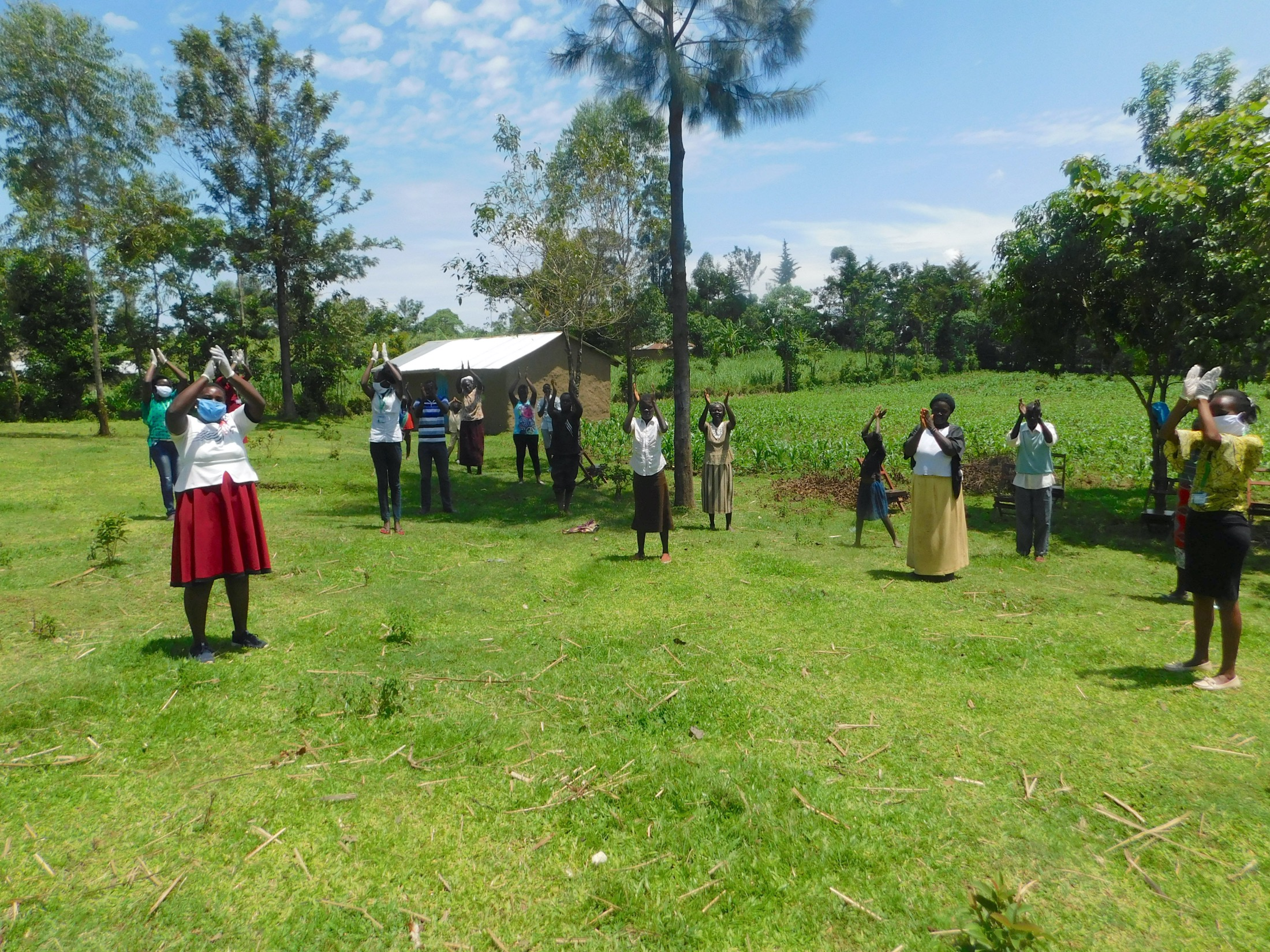 The Water Project : 1-covid19-kenya19179-applauding-all-people-fighting-coronavirus-on-the-frontlines