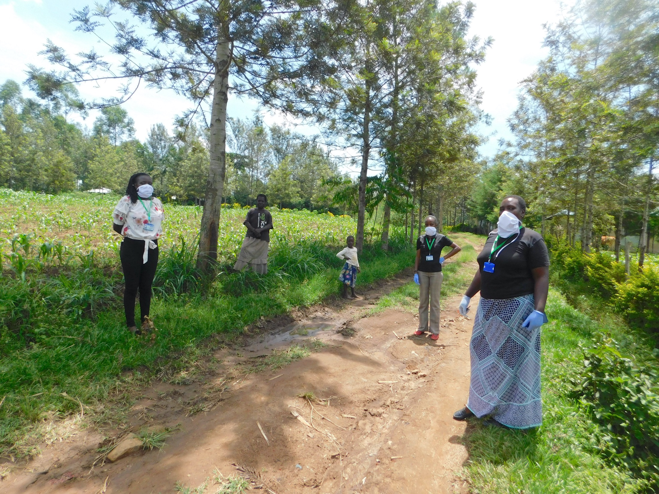 The Water Project : 1-covid19-kenya19182-facilitators-in-full-protective-gear-at-training