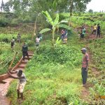 The Water Project: Busichula Community, Marko Spring -  Working On The Drainage During Training