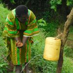 The Water Project: Mungakha Community, Nyanje Spring -  Handwashing At The Water Point
