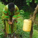 The Water Project: Mungakha Community, Nyanje Spring -  Handwashing At The Water Point