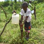 The Water Project: Mukoko Community, Mshimuli Spring -  Handwashing At The New Station