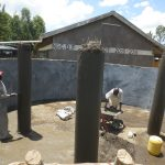 The Water Project: St. Gerald Mayuge Secondary School -  Tank Pillars Construction