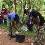 The Water Project: Musango Community, Emufutu Spring -  Handwashing Demonstration