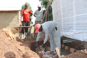 The Water Project:  Construction Tap And Drainage Access Area
