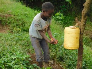 The Water Project:  A Young Boy Demonstrates Handwashing