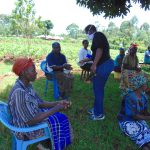 The Water Project: Visiru Community, Kitinga Spring -  Hand Sanitizing At The Training