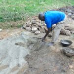 The Water Project: Shikangania Community, Abungana Spring -  Mixing Cement