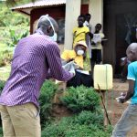 The Water Project: Ulagai Community, Rose Obare Spring -  Handwashing Demonstration