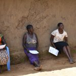 The Water Project: Musango Community, M'muse Spring -  Women Following Training Keenly