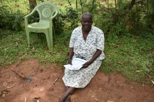 The Water Project:  An Elderly Citizen Attending The Training