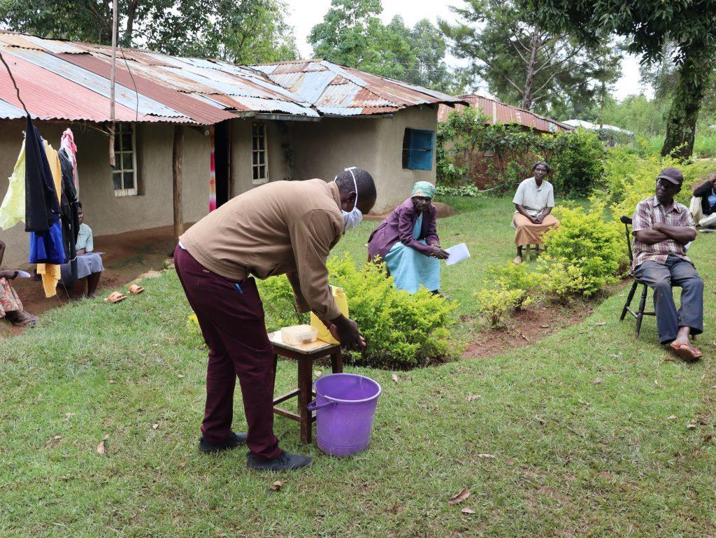 The Water Project : 13-kenya4707-covid19-demonstration-of-proper-handwashing-3