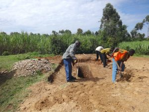 The Water Project:  Digging And Measuring Latrine Pits