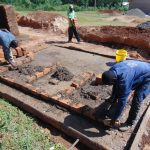 The Water Project: Kapsaoi Primary School -  Latrine Brick Work Over Concrete Foundation