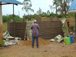 The Water Project:  Removing Sacks From Outer Walls
