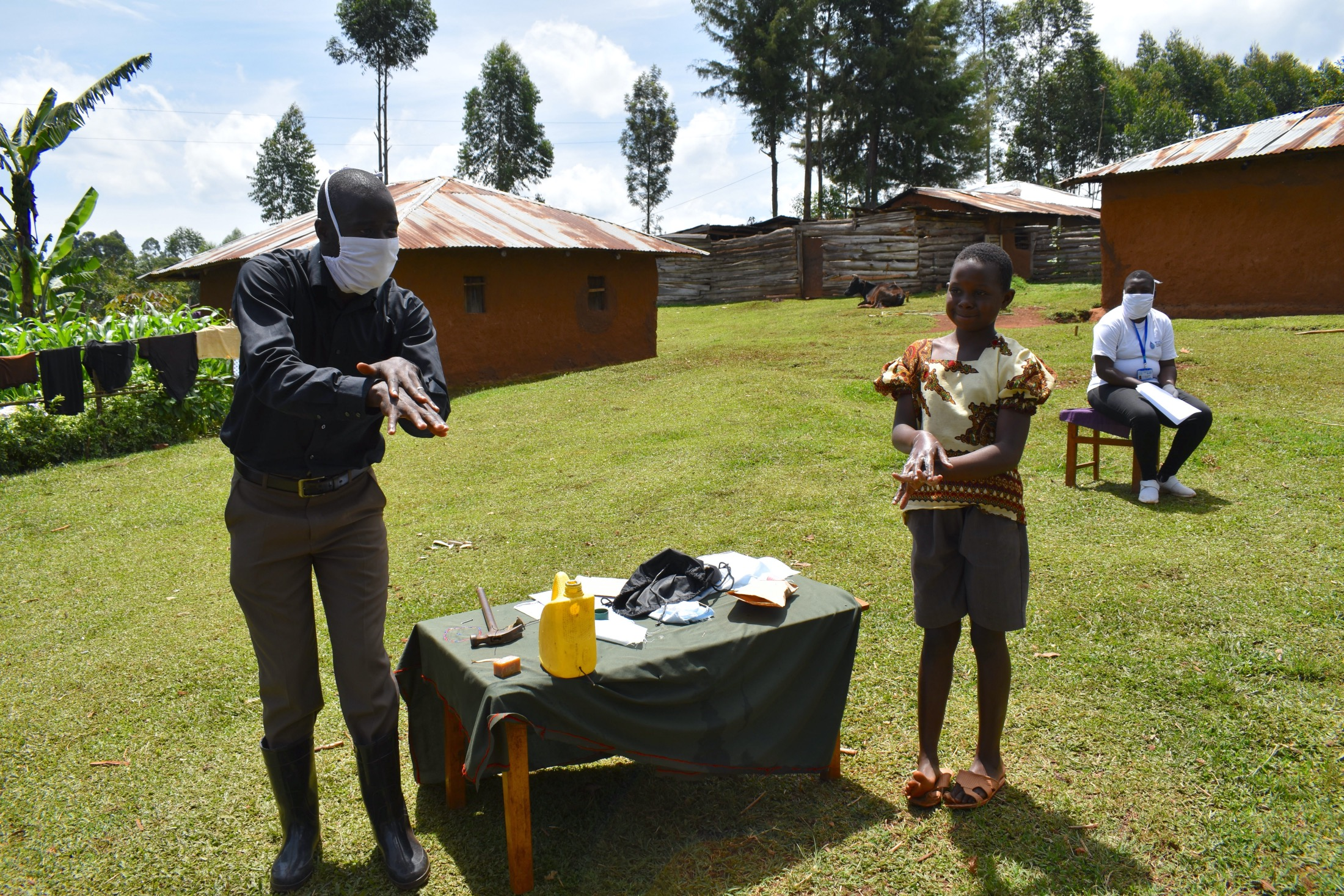 The Water Project : 16-covid19-kenya4591-handwashing-demonstration