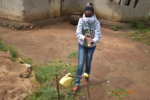 The Water Project:  Trainer Betty Uses Tippy Tap With Soap Found At Josephine Indangasis Home