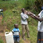 The Water Project: Emukoyani Community, Ombalasi Spring -  Scrub Scrub Everywhere Says Protus