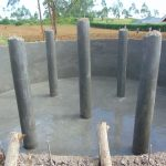 The Water Project: Jinjini Friends Primary School -  Pillars Plastered