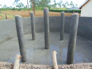 The Water Project:  Pillars Plastered