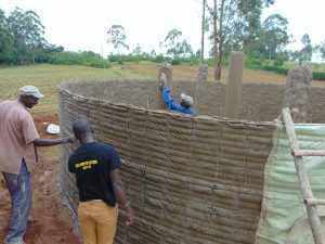 The Water Project:  Outside Plastering Ongoing