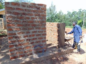 The Water Project:  Latrine Wall Plastering
