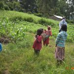 The Water Project: Bukhanga Community, Indangasi Spring -  Trainers In Masks And Children At Training