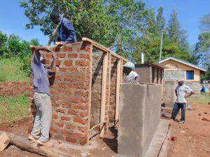 The Water Project:  Latrine Framing And Roofing