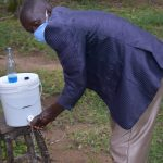 The Water Project: Bukhakunga Community, Ngovilo Spring -  Demonstrating Handwashing