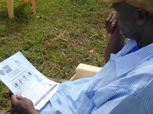 The Water Project:  An Elder Reads An Informational Pamplet