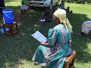 The Water Project:  An Elderly Community Member At The Training