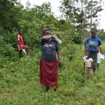 The Water Project: Mukoko Community, Mshimuli Spring -  Attendees Learn Elbow Coughing